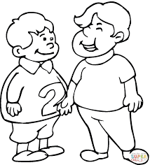 two little boys coloring page free printable coloring pages
