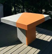 Concrete Patio Tables And Benches Concrete Patio Table And Outdoor Table Set Concrete Patio