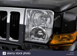 jeep commander black headlights 2008 jeep commander sport in black headlight stock photo