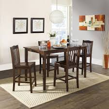 Tall Dining Room Sets by Dorel Living Valerie 3 Piece Counter Height Glass And Metal Dining