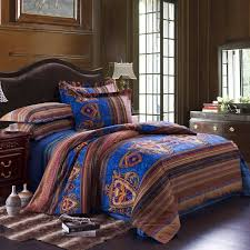 Royal Blue Comforters Bohemian Bed Comforters Bohemian Tribal Print Retro Chic 100