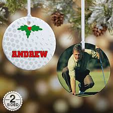 personalized golf ornaments