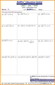Algebra Worksheets And Answers Astonishing 7th Grade Pre Algebra Math Worksheets About Free With