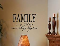 Amazoncom FAMILY IS WHERE OUR STORY BEGINS Vinyl Wall Decals - Family room wall decals