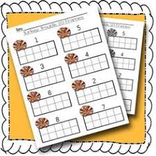 thanksgiving turkey trouble number recognition 1 10 with 10