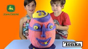 john deere tractor halloween costume giant pumpkin surprise egg play doh surprise egg with john deere