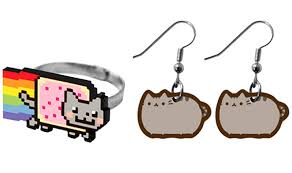pusheen earrings let nyan cat doctor cat and pusheen accessorize your world catster
