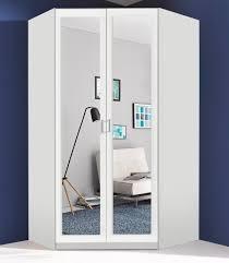 Schlafzimmerschrank Kika Eckkleiderschrank Weiß Mit Spiegel Mobelplatz Com