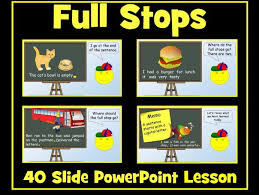 full stops and capital letters 40 slide powerpoint lesson by