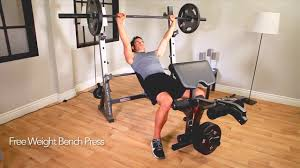 Marcy Bench Press Set Marcy Diamond Elite Olympic Bench Md 857 Youtube