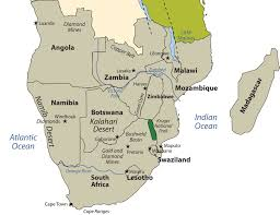 Africa On The Map southern africa