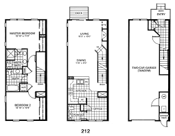 row home plans floor plan of a row house homes zone