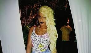 jamaican latest hair styles photos ishawna sports high waist shorts blonde hairstyle