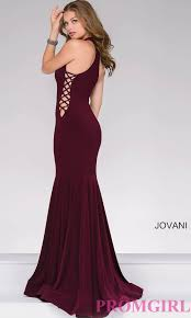 long jovani high neck mermaid prom dress promgirl