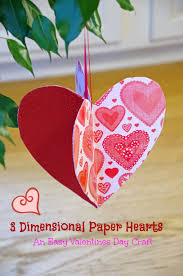 easy valentines day craft idea make 3d paper hearts suburbia