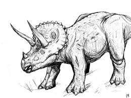 triceratops coloring pages dinosaurs pictures facts