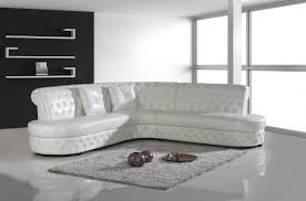 Modern White Leather Sectional Sofa by Divani Casa 2818c Modern White Leather Sectional Sofa