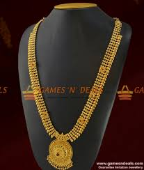 long necklace designs images Arrg161 grand bridal wear full ad stone long necklace imitation jpg