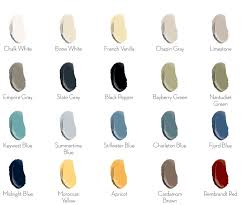 finishes chalk style paint color chart