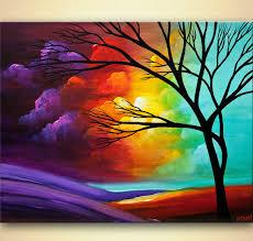 original abstract modern landscape made modern landscape tree painting osnat
