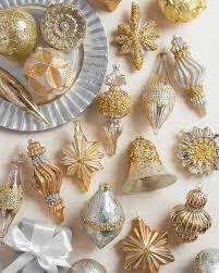 gold and silver christmas ornaments home decorating interior