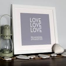 personalised u0027love love love u0027 canvas print by hopsack u0026 olive