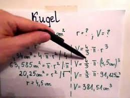 kugeloberfl che berechnen kugel oberfläche und volumen berechnen