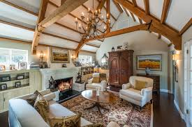 stately 1930s english style home in studio city asks 2 7m curbed la living room with fireplace