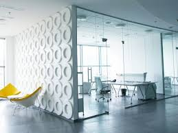 glass partition walls wall office interior design picture note