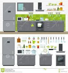 modern kitchen utensils interior design