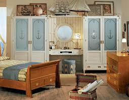 Single Bed Designs For Boys Bedroom Colors For Kids With Nice Elegant Sailing Ship Ornament