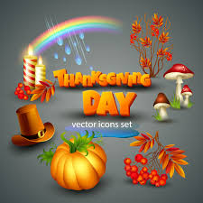 shiny thanksgiving day vector icons set 01 holidays icons free