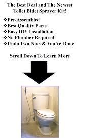 How To Install Bidet Spray Toilet Bidet Sprayer Kit Better Health Improved Personal Hygiene