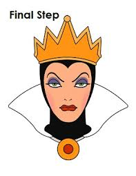 draw evil queen snow white