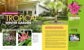 a tropical winter garden in north central florida home living