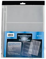 archival photo pages shield 3 pocket archival 10 pack polypropylene pages