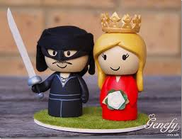 terrific princess bride wedding cake topper between the pages