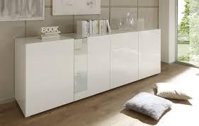 Buffet bahut 4 portes design laqué blanc Simba Bahut design