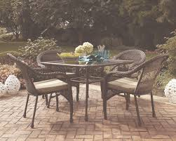 Brown Wicker Patio Furniture Garden Treasures Severson Patio Dining Chair In All Weather Brown