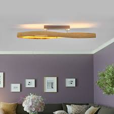 Deckenleuchten Wohnzimmer Modern Led Lampenwelt Led Deckenleuchte Lian Gold Dimmbar Deckenlampe