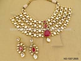 indian bridal necklace images Modern kundan heavy bridal necklace set wholesale artificial jpg