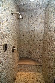 bathroom divine bathroom decoration with light brown pebble tile