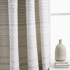 Jacquard Curtain Woven Dot Jacquard Curtain Platinum West Elm