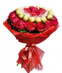 roses flowers ferrero rocher roses bouquet dubai flowers free delivery