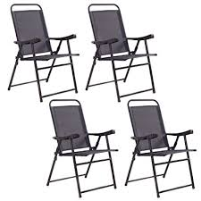Patio Sling Chair Giantex Set Of 4 Folding Sling Chairs Patio Furniture