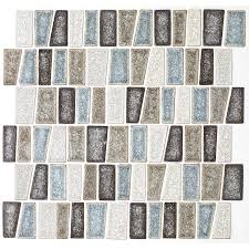 shop american olean delfino crackle sea side glass mosaic indoor