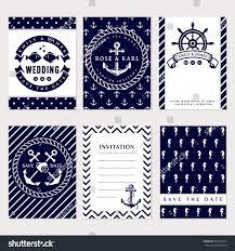 Elegant Invitation Cards Nautical Wedding Invitation Cards Sea Theme Stock Vector 393175522