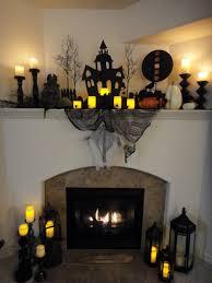 captivating fireplace home halloween design inspiration presenting