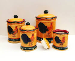 Sunflower Canisters For Kitchen 100 Ceramic Canisters For Kitchen Red Canister Set For