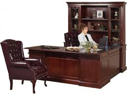 Office Desk With Hutch Storage Executive U Shaped Office Desk W Left Credenza Kes 038 Office Desks